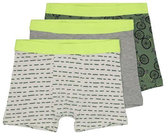 3er-Pack Kinder-Boxershorts, Fahrräder dunkelgrün dunkelgrün - 1000022746 - HEMA