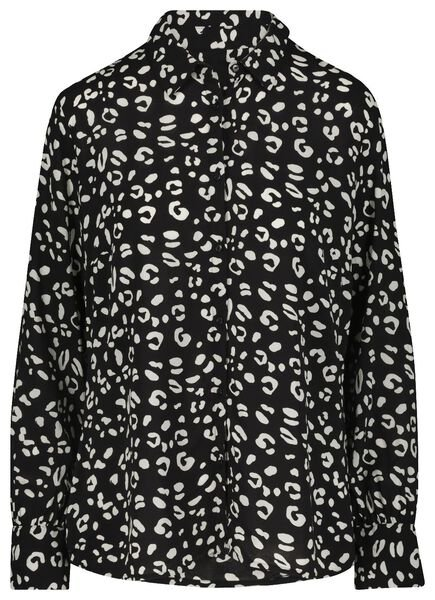 women's blouse black/white black/white - 1000018062 - hema