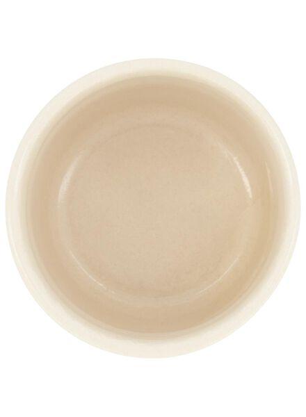 Blumentopf – Ø 7 cm – Keramik – weiß-gold - 13392087 - HEMA