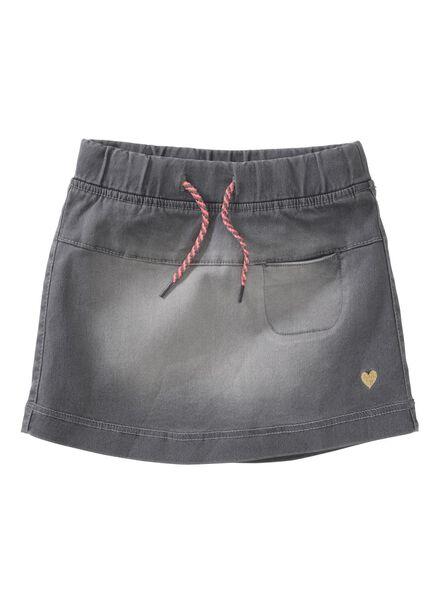 jog denim children's skirt light grey light grey - 1000005781 - hema