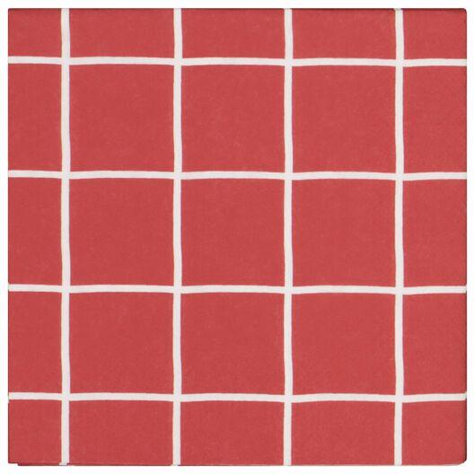 20 serviettes 33x33 paper - chequered red - 25600161 - hema