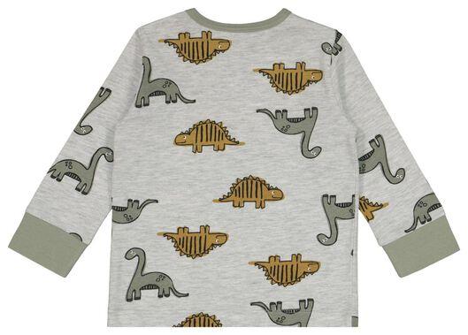 2er-Pack, Baby-Pyjamas, Dinos/Punkte graumeliert graumeliert - 1000022579 - HEMA