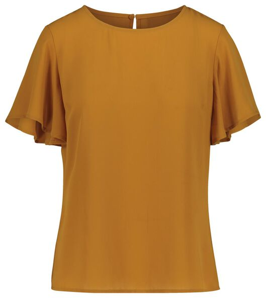 women's top yellow ochre yellow ochre - 1000019331 - hema