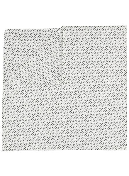 sheet - 200 x 255 - soft cotton - white dots - 5100029 - hema