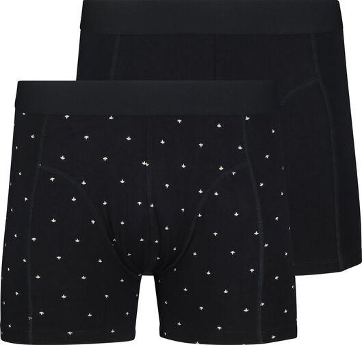 2-pack men's boxer shorts long with bamboo dark blue dark blue - 1000018793 - hema