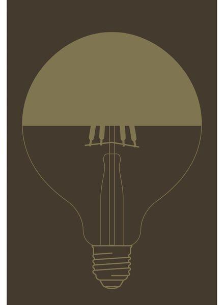 LED lamp 4W - 280 lm - globe - black upward reflecting - 20020062 - hema
