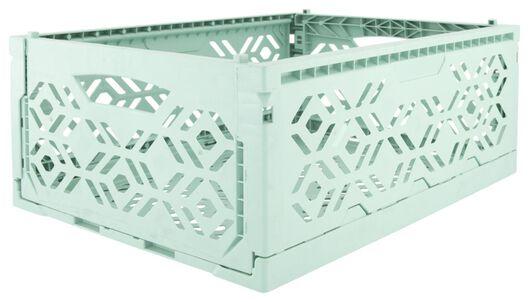 caisse pliante recyclée 30x40x15 - vert menthe - 39821053 - HEMA