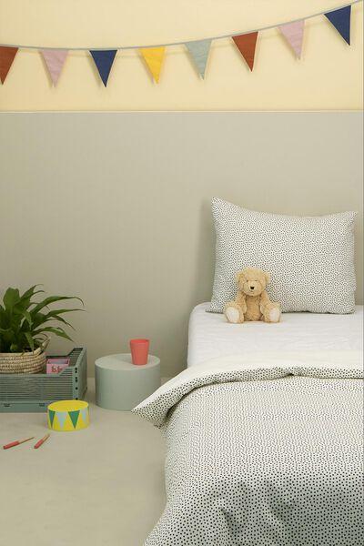 housse de couette jeune enfant - coton doux - 120 x 150 cm - pois - 5750097 - HEMA