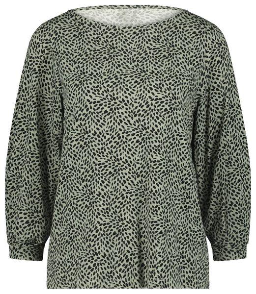 Damen-Shirt, Punkte hellgrün hellgrün - 1000023474 - HEMA