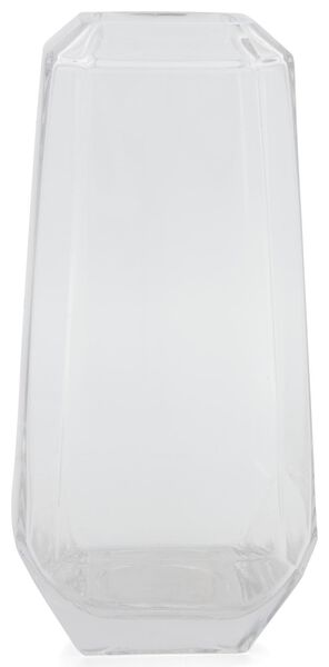vase - 26 cm - transparent - facette - 13392025 - HEMA