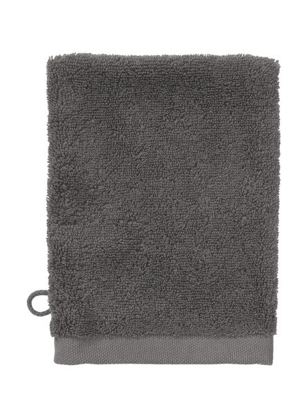 flannel - hotel extra soft - plain dark grey dark grey wash mitt - 5220034 - hema