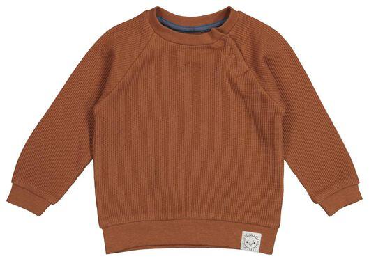 Babyoberteile - HEMA Baby Sweatshirt, Waffelstruktur Braun - Onlineshop HEMA