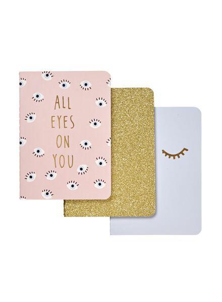 3-pack notebooks - 60710033 - hema