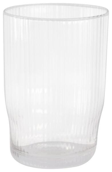 verre long drink Bergen ligne relief 450ml - 9401053 - HEMA