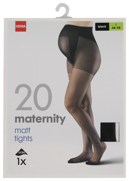 zwangerschapspanty 20 denier zwart zwart - 1000019392 - HEMA