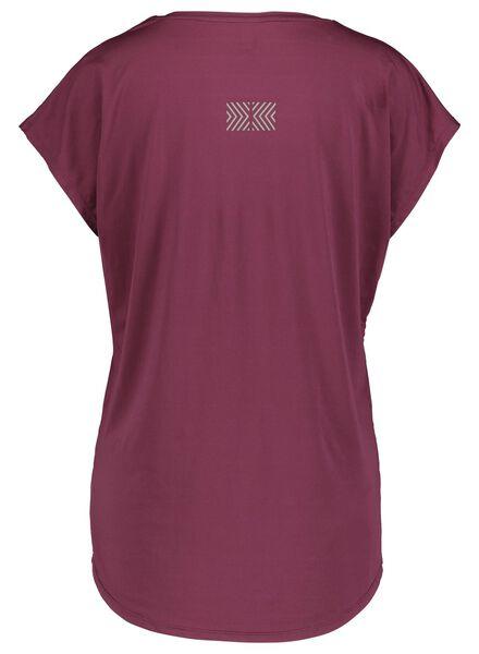women's sports shirt burgundy red burgundy red - 1000017332 - hema