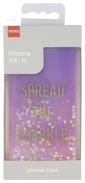 Softcase für iPhone XR/11, Spread the sparkle - 39680108 - HEMA