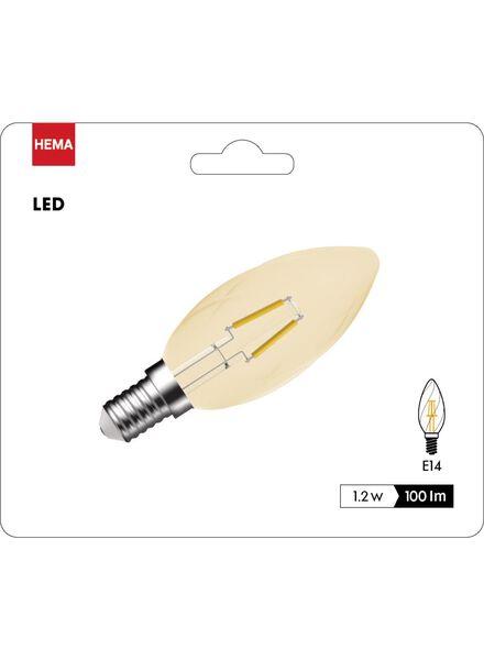 ampoule flamme LED dorée transparente 1,2 watts - petit culot - 100 lumens - 20090052 - HEMA