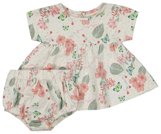 Newborn-Set, T-Shirt mit Hose, elastische Biobaumwolle, Stretch weiß weiß - 1000023597 - HEMA