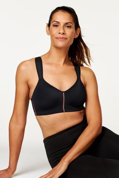 padded sports bra medium-impact sports black black - 1000018830 - hema