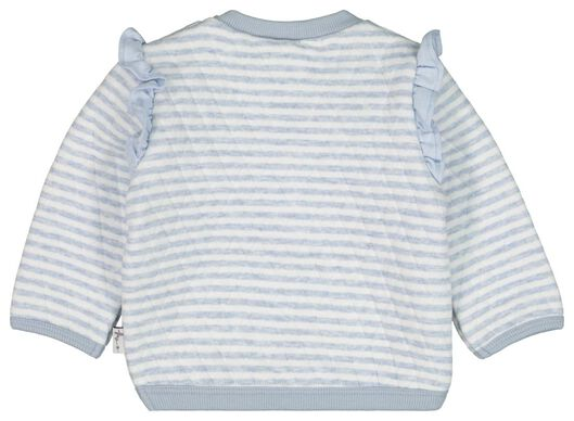 Baby-Sweatshirt, Streifen, gefüttert hellblau hellblau - 1000022189 - HEMA