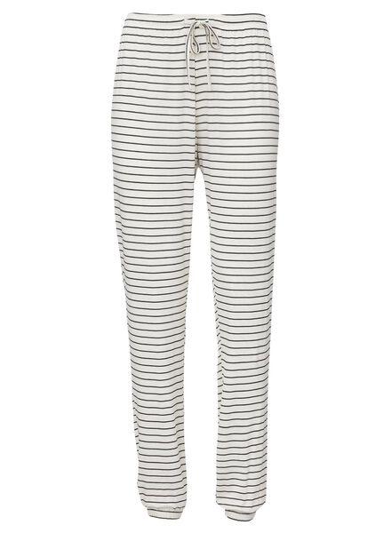 women's pyjama bottoms viscose black/white black/white - 1000013163 - hema