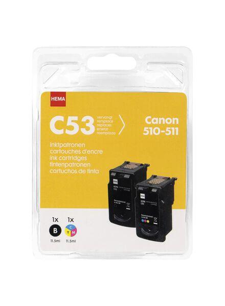 Le paquet de 2 HEMA C53 remplace la Canon 510-511 - 38399227 - HEMA