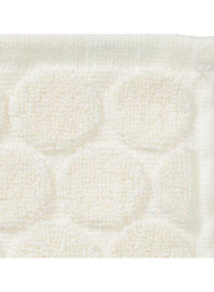 petite serviette - 30 x 55 cm - qualité épaisse - écru pois - 5200060 - HEMA