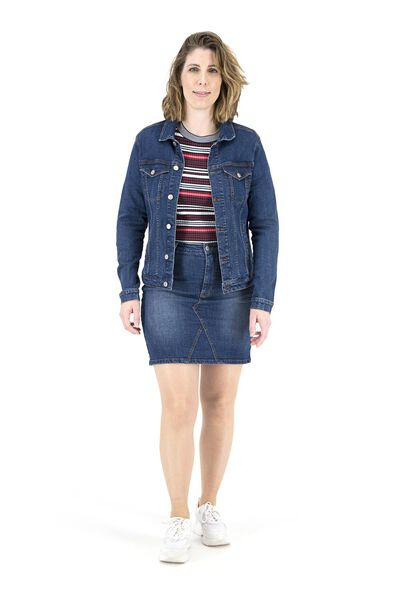 women's denim jacket mid blue mid blue - 1000018279 - hema