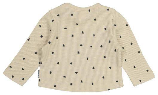 t-shirt nouveau-né gaufré beige beige - 1000022306 - HEMA