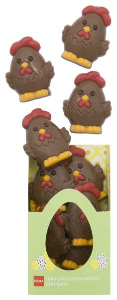 poules de Pâques en chocolat au lait 180g - 10081038 - HEMA