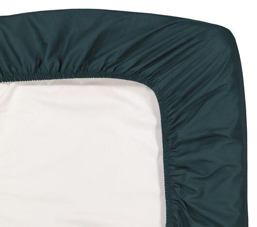 drap-housse - coton doux vert foncé vert foncé - 1000016909 - HEMA