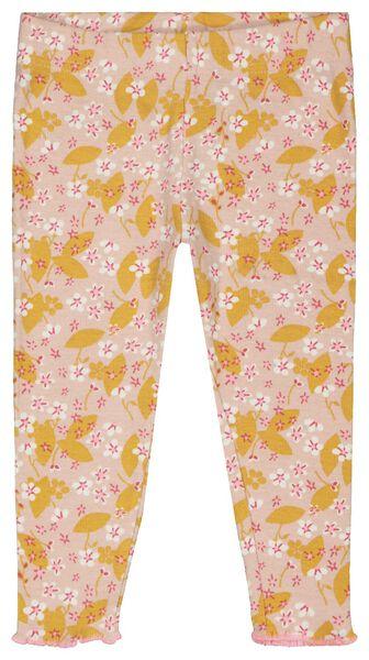Baby-Pyjama, Blumen, elastische Baumwolle rosa rosa - 1000023461 - HEMA