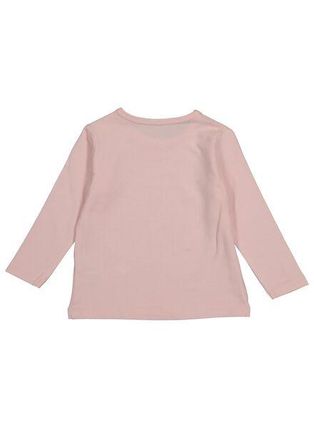 t-shirt bébé en bambou rose pâle rose pâle - 1000014271 - HEMA