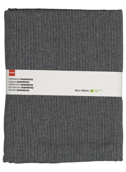 nappe coton chambray 140x240 - noir/blanc - 5300072 - HEMA