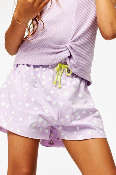 2er-Pack Kinder-Shorts lila 146/152 - 30855836 - HEMA