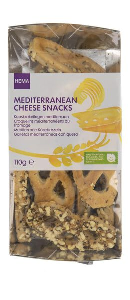 craquelins au fromage méditerranéens - 110 grammes - 10661417 - HEMA