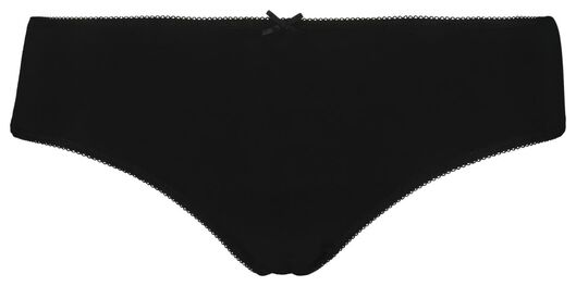 3-pack women's hipster panties black/white black/white - 1000018556 - hema