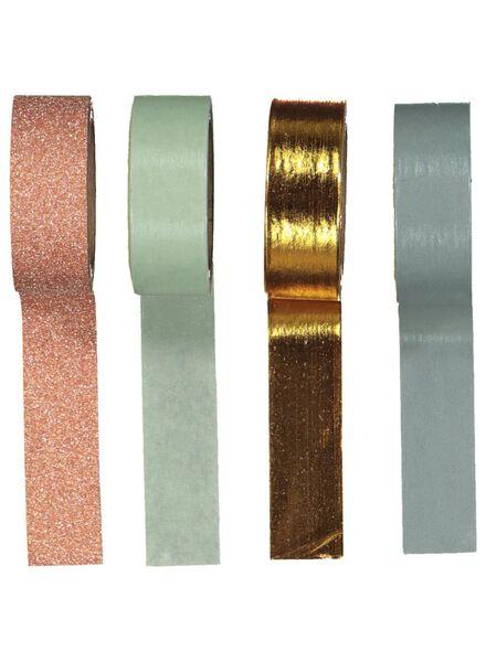 4 rouleaux de ruban adhésif Washi - 14136003 - HEMA