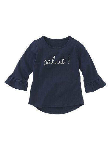 children's T-shirt dark blue dark blue - 1000005830 - hema