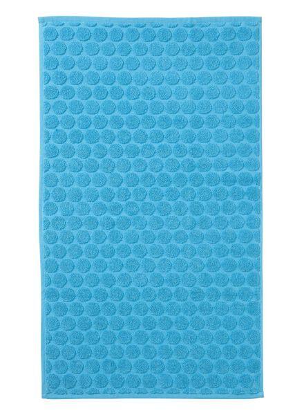 tapis de bain qualité épaisse - pois - aqua - 5200029 - HEMA