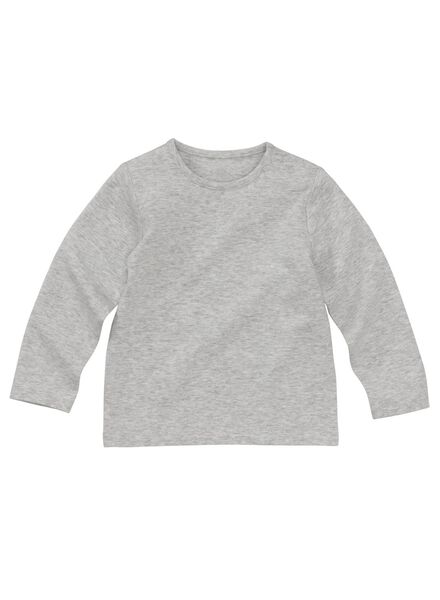Baby-T-Shirt – Bambus graumeliert graumeliert - 1000011957 - HEMA
