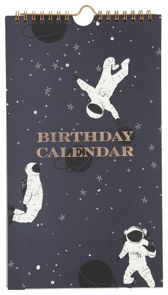 Image of HEMA Birthday Calendar Spiral 28x16 Astronaut