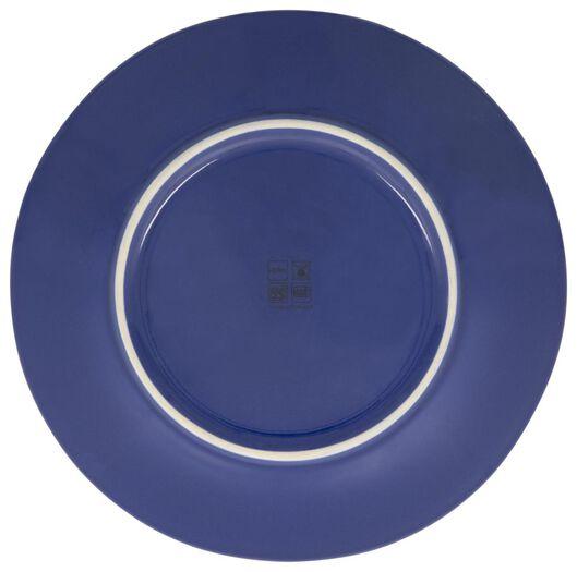 breakfast plate 23 cm Porto reactive glaze white/blue - 9602251 - hema
