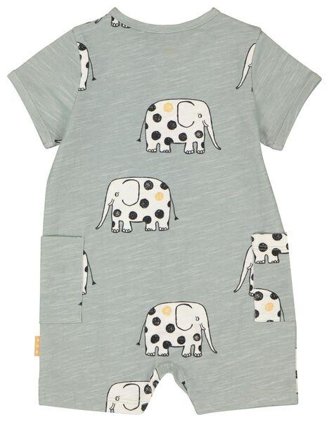 Newborn-Jumpsuit Elefanten blau 56 - 33431432 - HEMA