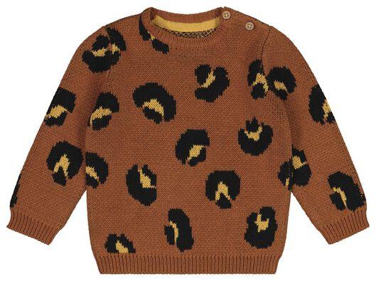 HEMA Baby-Pullover Leopard Braun