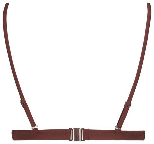 gepolstertes Damen-Triangel-Bikinioberteil dunkelrot dunkelrot - 1000017917 - HEMA