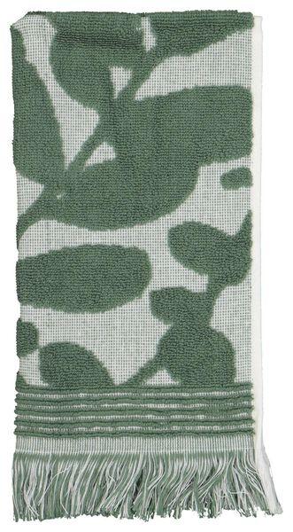 gastendoek - 30x55 - zware kwaliteit - bladeren groen/wit - 5210115 - HEMA