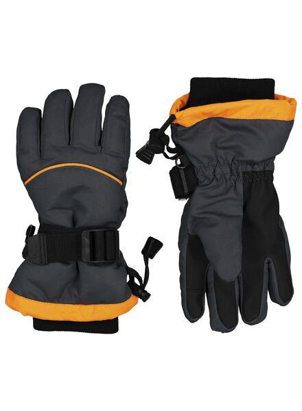 children's ski gloves black black - 1000015331 - hema