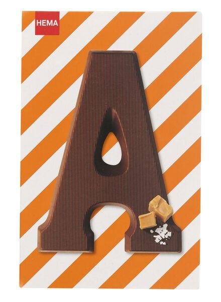 caramel sea salt milk chocolate letter A - 10039001 - hema